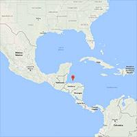 Ostrov Roatán na mapě