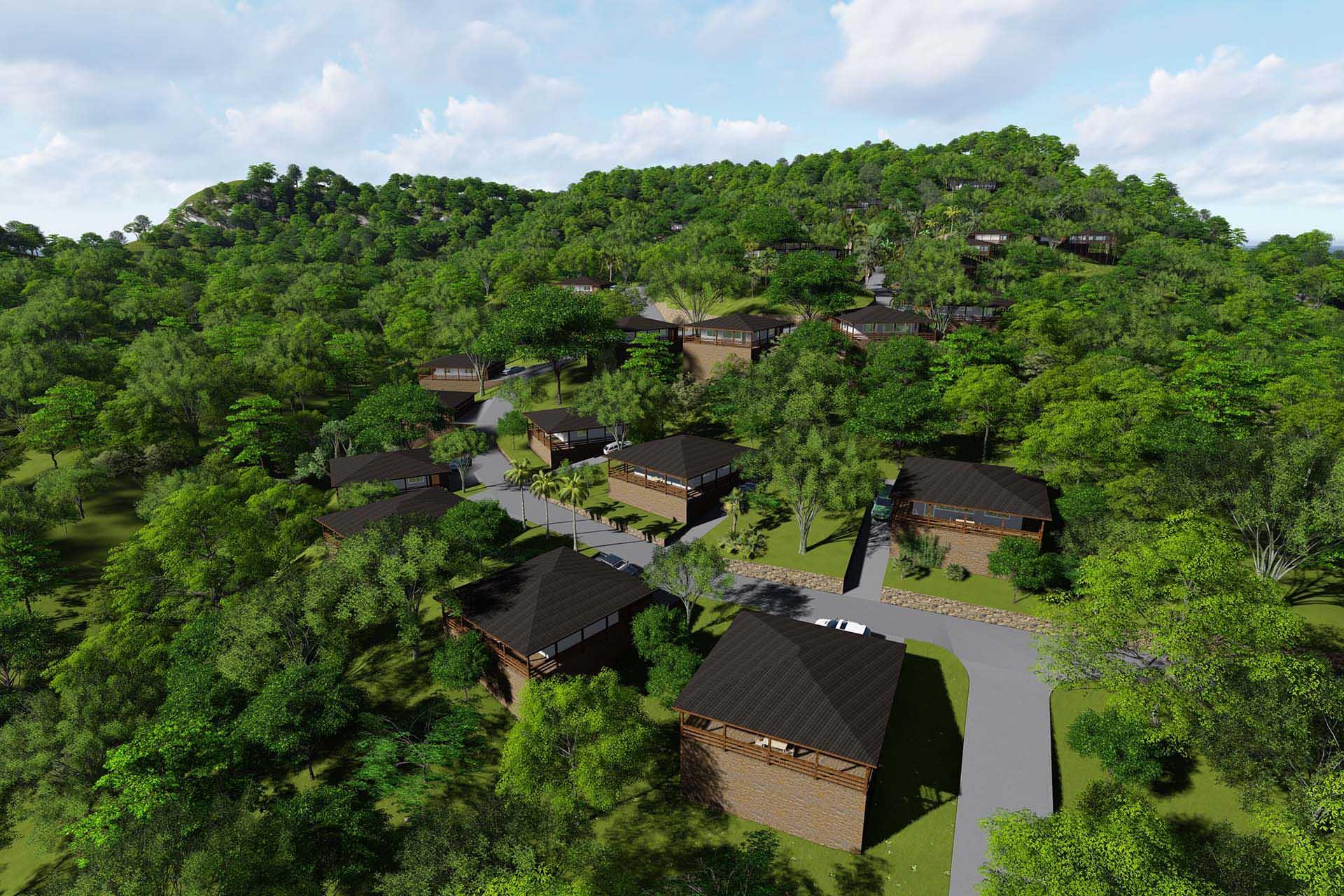 Vizualizace budoucí podoby nové části resortu Diamond Hill